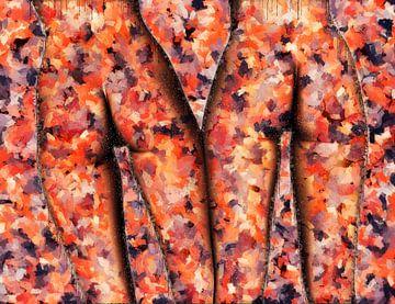 2 paar gekleurde billen (kunst, erotiek) van Art by Jeronimo
