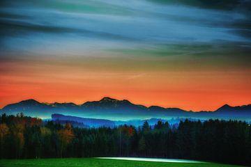 Alpenlandschaft von Holger Debek