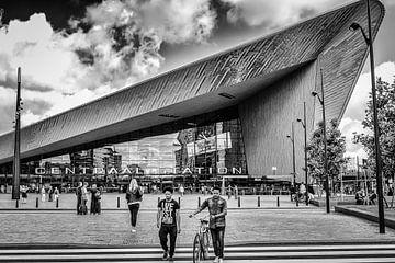 Rotterdam Centraal Station (zwart-wit) von H Verdurmen