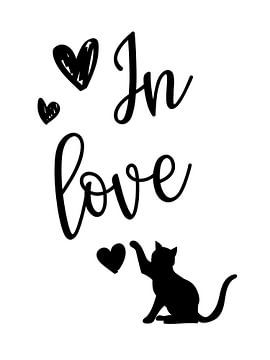 Katze von Printed Artings