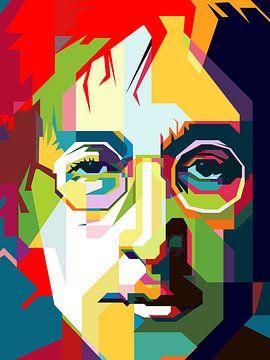 John Lennon Verbeeld je Pop Art van Fariza Abdurrazaq