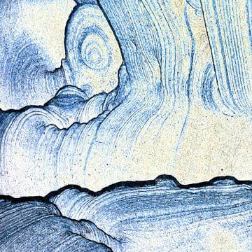 Abstrakt in Blautönen von Maurice Dawson