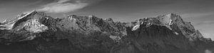 Zugspitze Panorama SchwarzWeiss