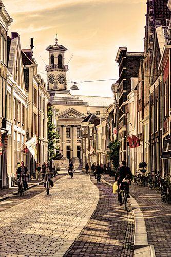 Stadhuis van Dordrecht Nederland Oud
