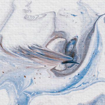 Paradijsvogel bruin blauw van