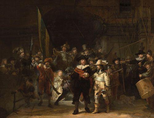 De Nachtwacht, met missende delen, Rembrandt