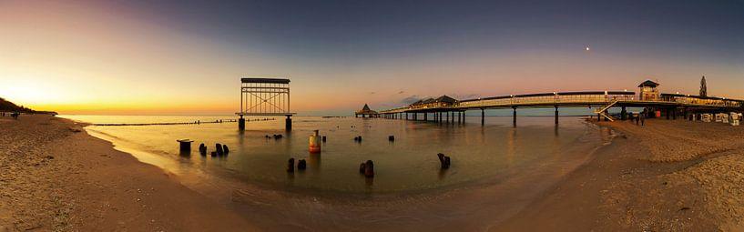 Gebruiksgemak Panorama bij zonsondergang van Frank Herrmann