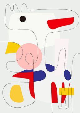 Line-art Snoopy van Rudy & Gisela Schlechter