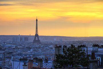 Eiffeltoren zonsondergang vanaf de Sacre-Coeur