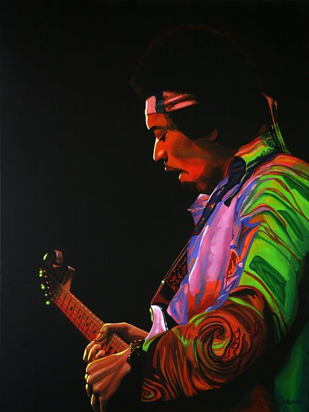 Jimi Hendrix Painting 4 von Paul Meijering