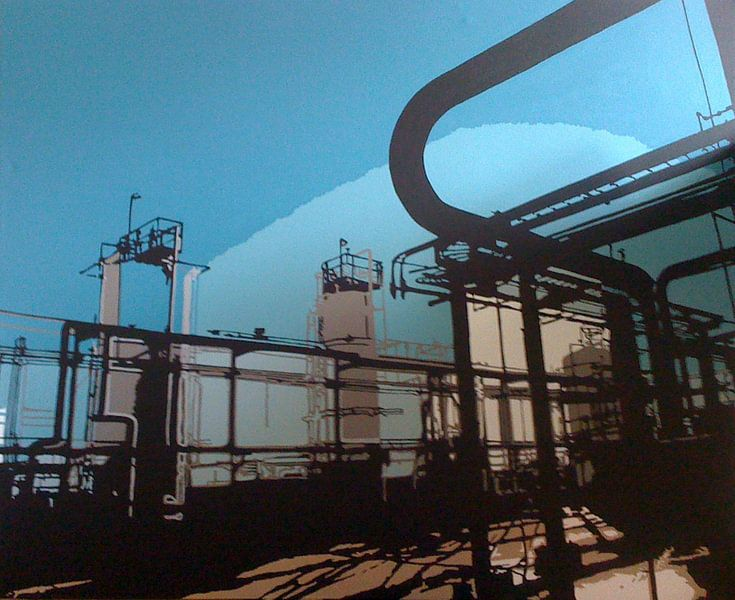 Industrie in Texas van Larissa Beentjes