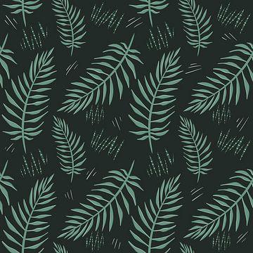 Tropisch regenwoud GROEN - jungle modern van Studio Hinte