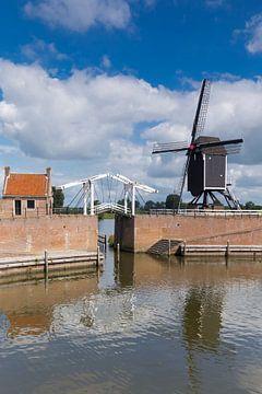 Haven van Heusden met Ophaalbrug en Standerdmolen van Rob Kints