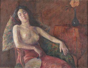 Li Shutong, halb nackte Frau - 1909 von Atelier Liesjes