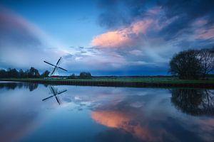 Dutch dramatic sunset