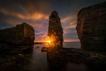 Noss Head Sonnenuntergang von Wojciech Kruczynski