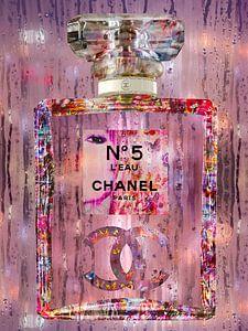 Bunte Kunst einer Parfümflasche