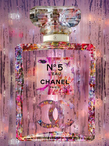 Bunte Kunst einer Parfümflasche von Dennisart Fotografie