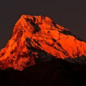 De rode bergtop van Saskia van Gelderen