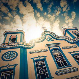 Santa Cruz kerk in  Praia da Vitoria, Terceira, Azoren, Portugal van Marcel Bakker