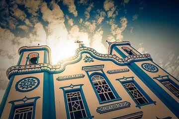 Kirche Santa Cruz in Praia da Vitoria, Terceira, Azoren, Portugal von Marcel Bakker
