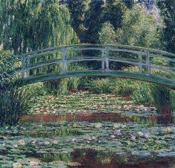Japanische Brücke im Garten von Giverny, Claude Monet