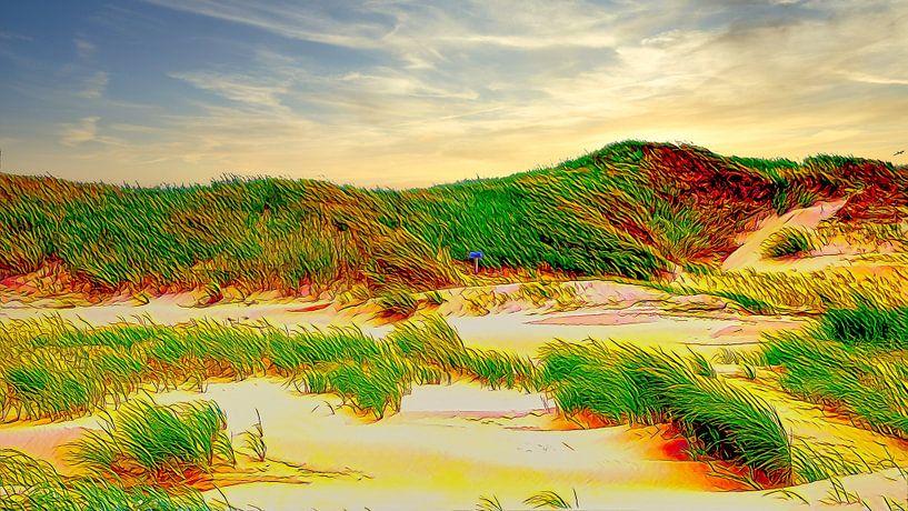 Dünen Niederlande von Digital Art Nederland