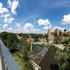Bautzen - panorama de la vieille ville historique sur Frank Herrmann