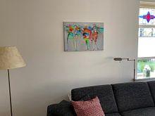 Klantfoto: Happy Connected People 1 van Atelier Paint-Ing, op canvas