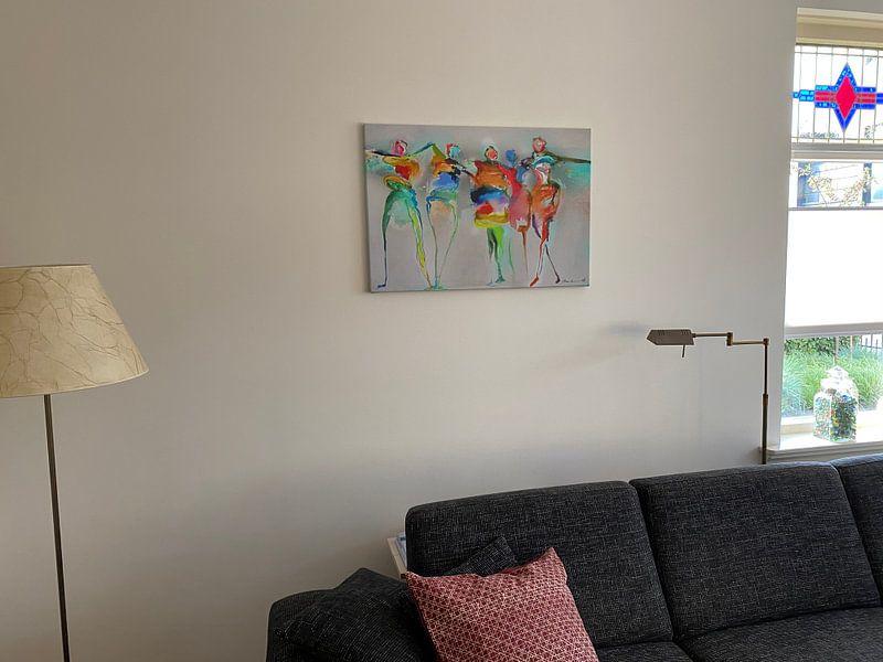 Kundenfoto: Happy Connected People 1 von Atelier Paint-Ing, auf leinwand