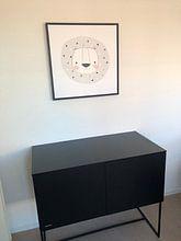 Klantfoto: Babykamer, wanddecoratie, grijs wit zwart, van AMB-IANCE .com, op canvas