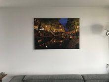 Kundenfoto: Oudegracht in Utrecht mit Gaardbrug von Donker Utrecht, auf leinwand