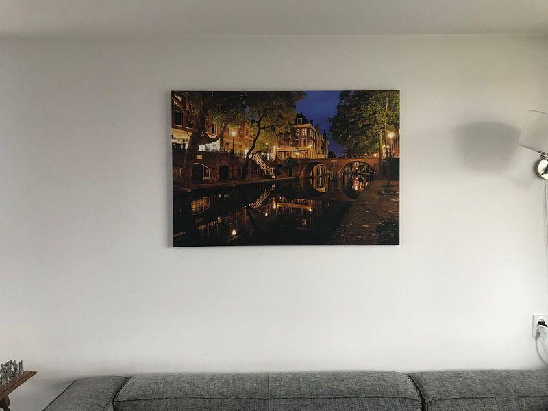 Kundenfoto: Oudegracht in Utrecht mit Gaardbrug von Donker Utrecht