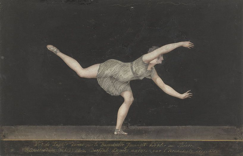 Danseres Annette Köbler, Bartholomeus Ziesenis sur Meesterlijcke Meesters