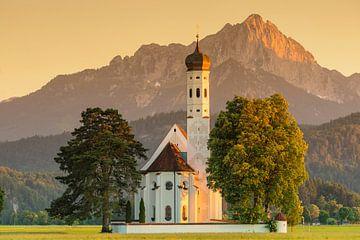 Wallfahrtskirche St.Coloman bei Sonnenuntergang,  Allgäu, Bayern, Deutschland von Markus Lange