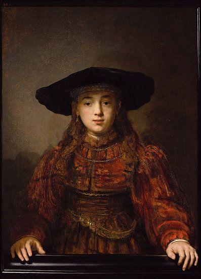 Meisje in een schilderijlijst van Diverse Meesters