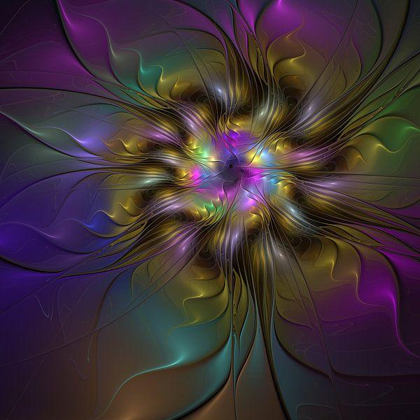 Floral And Colorful Fractal Art van gabiw Art