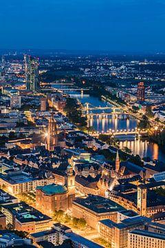Frankfurt am Main bei Nacht von Werner Dieterich