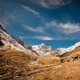 Aan de voet van Annapurna Basecamp van Ellis Peeters