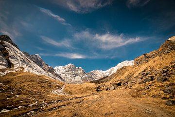 Au pied de l'Annapurna Basecamp sur Ellis Peeters