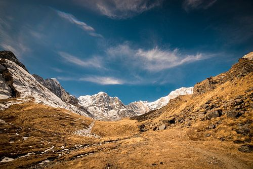 Aan de voet van Annapurna Basecamp van