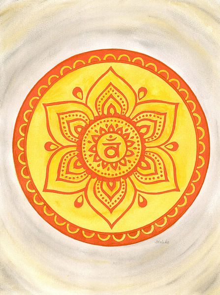 Svadhisthana Sacraal Chakra Mandala van Sandra Steinke