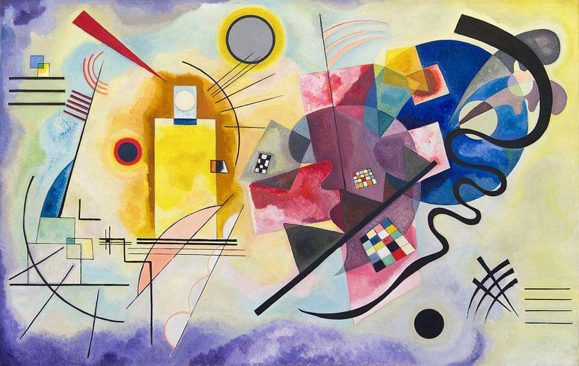 Geel-rood-blauw, Wassily Kandinsky van Meesterlijcke Meesters
