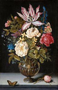 Ambrosius Bosschaert de Oude. Stilleven met bloemen van