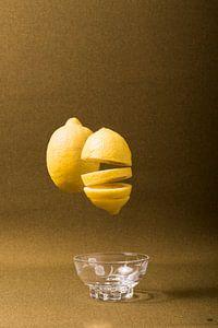citroen boven glazen schaaltje van Lieke van Grinsven van Aarle