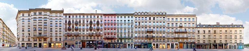 Lyon Rue Victor Hugo Architecture Panorama van Panorama Streetline