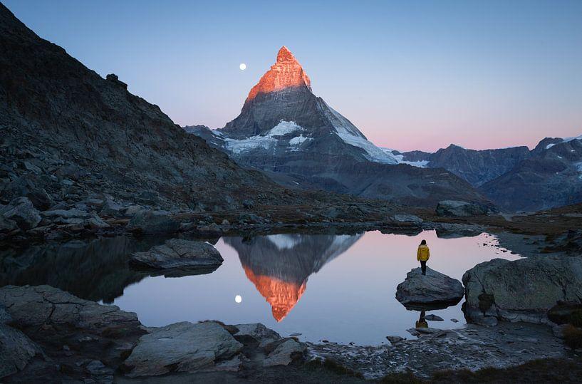 Riffelsee sunrise van Sander van der Werf