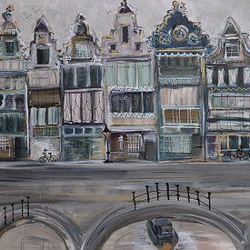 Grachten Nederland van Kunstenares Mir Mirthe Kolkman van der Klip