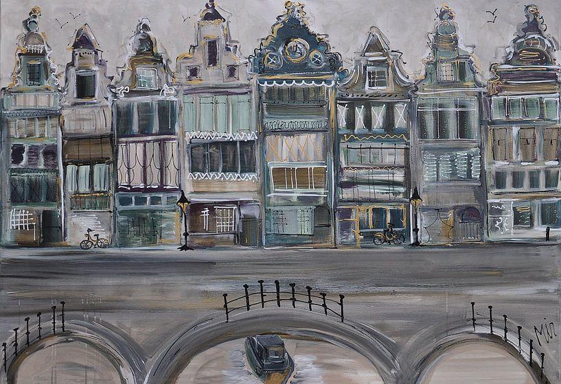 Canaux Pays-Bas sur Kunstenares Mir Mirthe Kolkman van der Klip