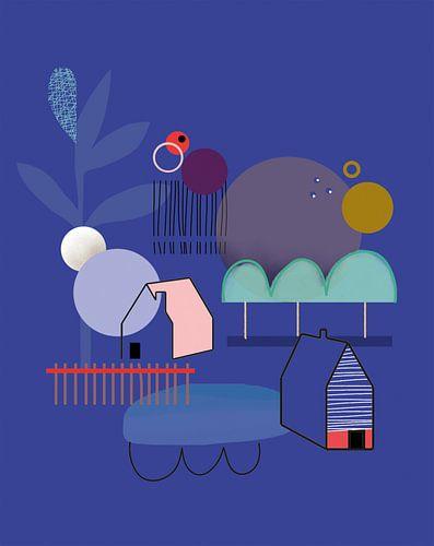 Abstract en kleurrijk van